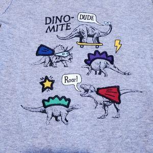 NB Onesie Dino-mite | Superhero Grey Cart…